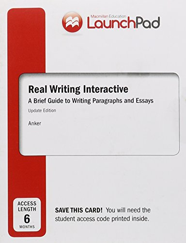 9781319011277: LaunchPad for Real Writing Interactive (Six Month Access)