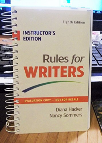 I.E. RULES FOR WRITERS 8TH.ED. HACKER: HACKER