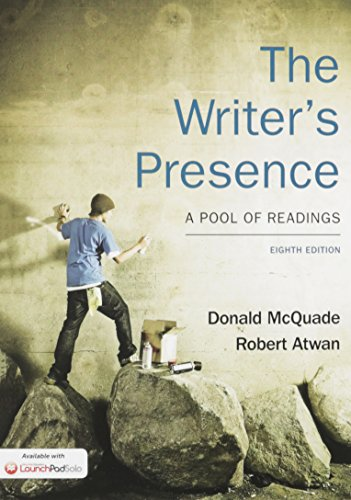 9781319013820: Writer's Presence 8e & LaunchPad Solo for The Writer's Presence 8e (Six Month Access)