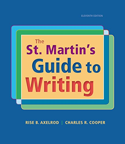 9781319016036: The St. Martin's Guide to Writing
