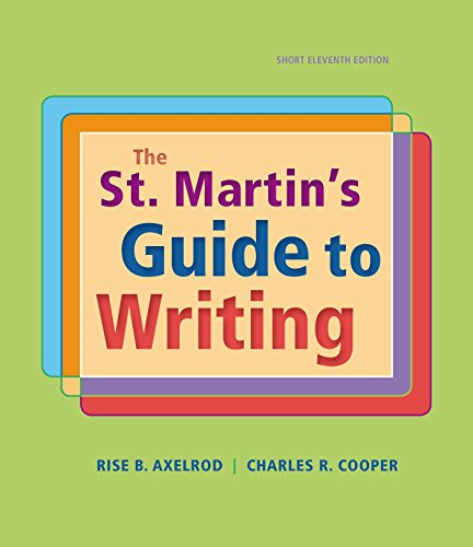 9781319016067: The St. Martin's Guide to Writing, Short Edition