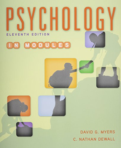Psychology in Modules 11e & LaunchPad for Myers' Psychology in Modules 11e 9781319017033 Brand new - still in wrapping