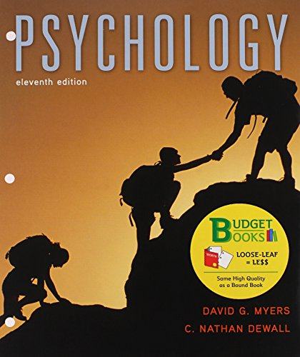 9781319017064: Loose-leaf Version for Psychology 11e & LaunchPad for Myers' Psychology 11e (Six Month Access)