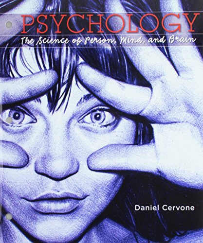 9781319017088: Loose-leaf Version for Psychology: The Science of Person, Mind, and Brain & LaunchPad for Cervone's Psychology: The Science of Person, Mind, and Brain (Six Month Access)