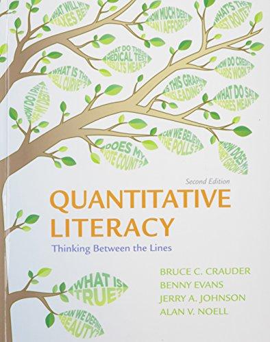 Quantatative Literacy + Launchpad, 12-month Access: Crauder, Bruce/ Evans,