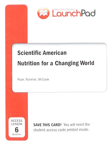 9781319019938: LaunchPad for Scientific American Nutrition for a Changing World (Six Month Access)