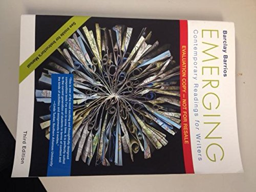 9781319020231: EMERGING:CONTEMP.READINGS...>INSTRS.ED<