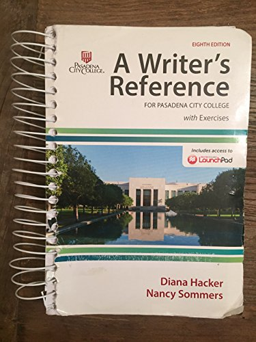 9781319021894: A Writer's Reference 8th Edition (PASADENA CITY COLLEGE)