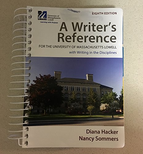 9781319025205: A writer's Reference for the University of Massachusetts Lowell 8e with writing in the Disciplines