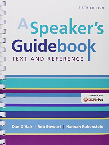 9781319027223: A Speaker's Guidebook & LaunchPad Six Month Access