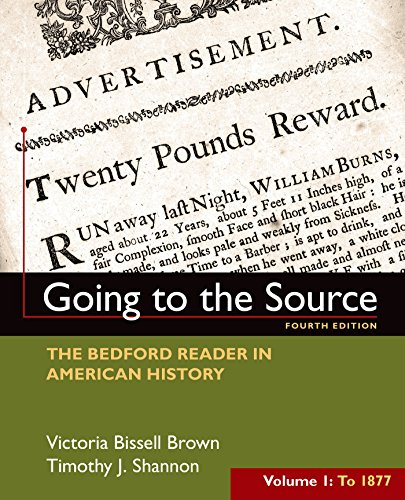 9781319027490: Going to the Source, Volume I: To 1877: The