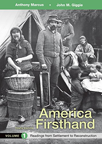 9781319029661: America Firsthand, Volume 1: Readings from Settlement to Reconstruction