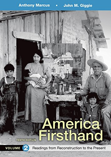 9781319029685: America Firsthand, Volume 2: Readings from Reconstruction to Present