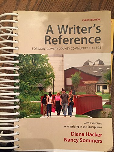 9781319032210: A Writer's Reference with Exercises: Custom Montgomery Community College Edition