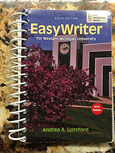 9781319034726: Easy Writer for Western Michigan University