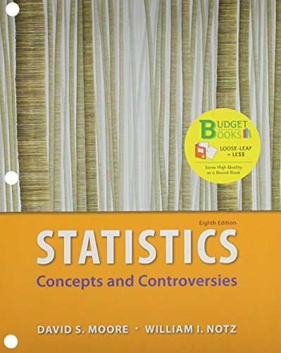 9781319035105: Loose Leaf Version for Statistics: Concepts & Controversies & EESEE Access Card 8e & LaunchPad for Moore's Statistics: Concepts and Controversies (12 month access) 8e