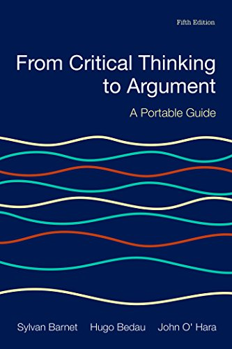 Beispielbild für From Critical Thinking to Argument: A Portable Guide zum Verkauf von SecondSale
