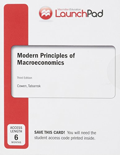 9781319035952: LaunchPad for Cowen's Modern Principles of Macroeconomics (Six Months Access)