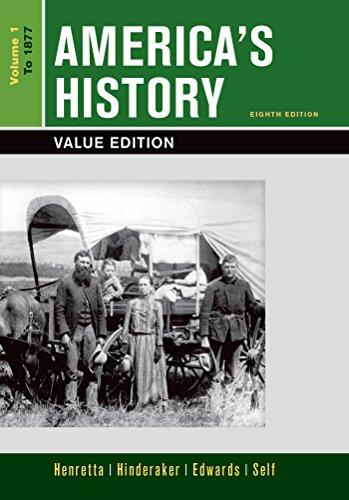 9781319040383: America's History, Value Edition, Volume 1