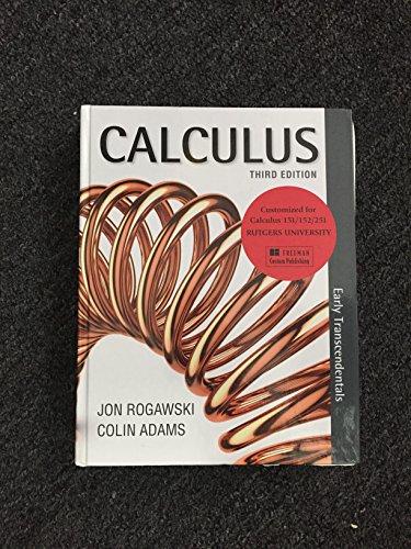 Jon Rogawski And Colin Adams AbeBooks