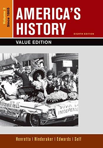9781319049072: Loose-leaf Version of America's History, Value Edition, Volume 2