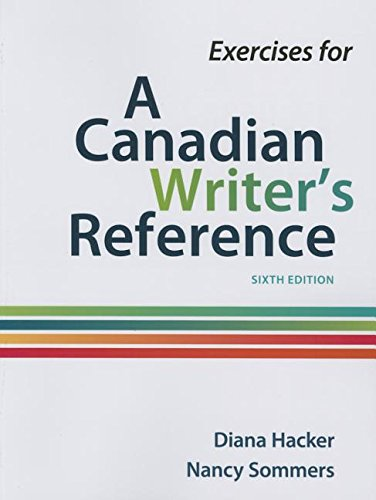9781319052294: Exercises for A Canadian Writer's Reference