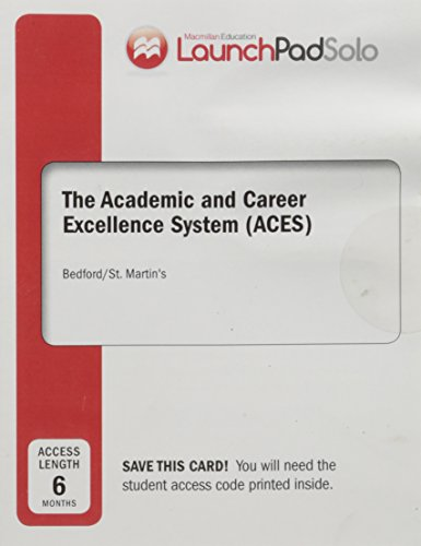 9781319053819: LaunchPad Solo for ACES (Academic and Career Excellence System - Six Month Access)