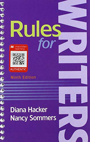 9781319057428: Rules for Writers