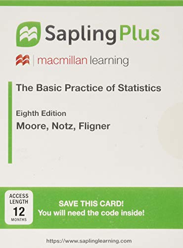 9781319057985: SaplingPlus for The Basic Practice of Statistics (Multi Term Access)