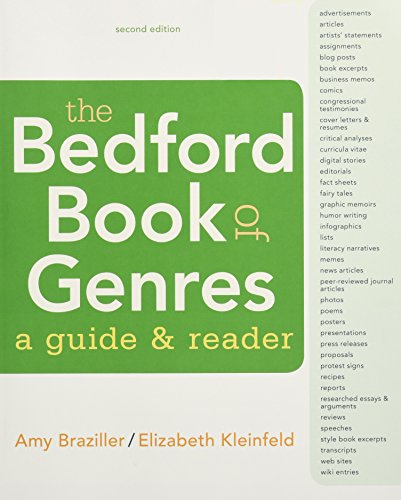 The Bedford Book of Genres: A Guide: Braziller, Amy, Kleinfeld,