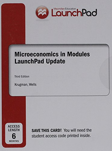9781319064693: LaunchPad for Krugman's Microeconomics in Modules - Update (Six Month Access)
