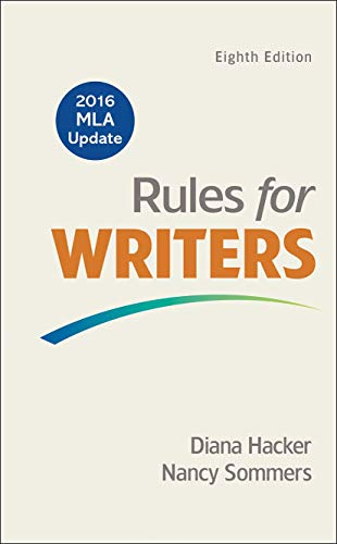 9781319083496: Rules for Writers with 2016 MLA Update