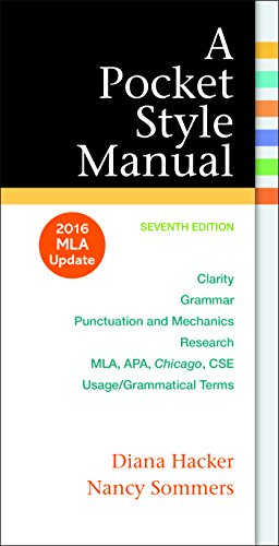 9781319083526: A Pocket Style Manual: 2016 MLA Update