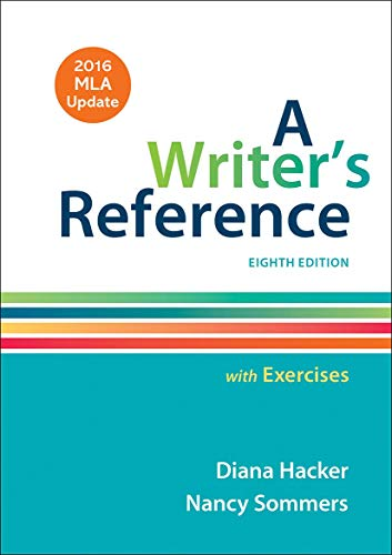 9781319083557: A Writer's Reference with Exercises with 2016 MLA Update