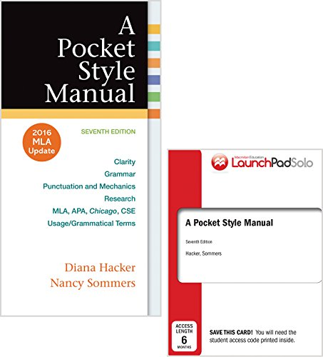 9781319083526 a pocket style manual 2016 mla update abebooks 9781319085469 pocket style manual 7e with 2016 mla update launchpad solo for a pocket fandeluxe