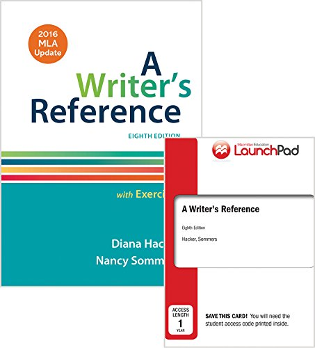 9781319085513: Writer's Reference with Exercises 8e with 2016 MLA Update & LaunchPad for A Writer's Reference 8e (Twelve Month Access)