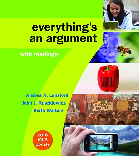 9781319085742: Everything's an Argument with Readings with 2016 MLA Update