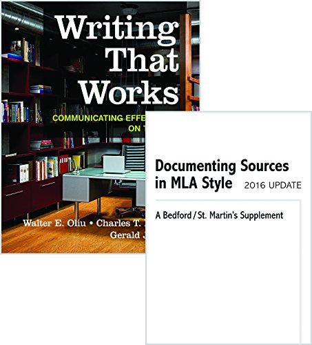 9781319086794: Writing That Works + Documenting Sources in MLA Style 2016 Update: Communicating Effectively on the Job