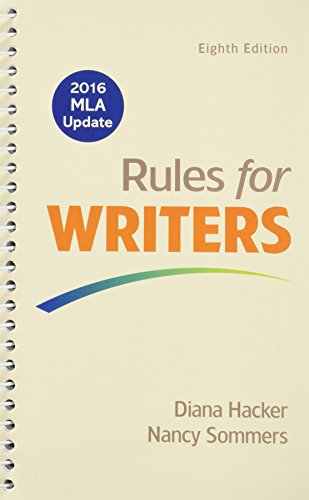 9781319086909: Rules for Writers 8e with 2016 MLA Update & Writer's Help 2.0 (Twelve Month Access)