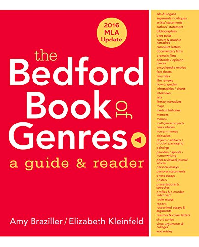 The Bedford Book of Genres with 2016: Braziller, Amy, Kleinfeld,