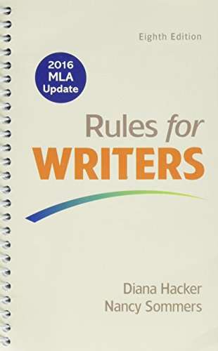 9781319095710: Rules for Writers, 2016 MLA Update Edition 8E & Quick Reference: Working with Sources 8E