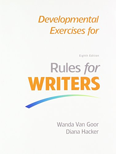 9781319101640: Rules for Writers with 2016 MLA Update & Developmental Exercises for Rules for Writers