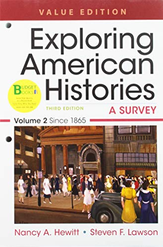 9781319106560: Loose-leaf Version for Exploring American Histories, Value Edition, Volume 2: A Survey