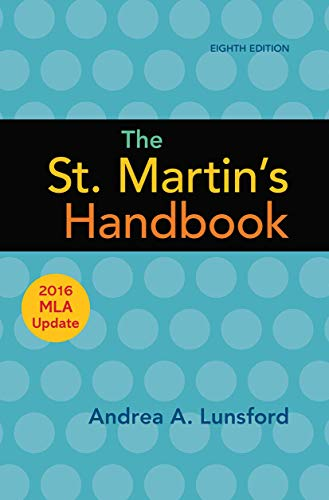 9781319120252: The St. Martin's Handbook with 2016 MLA update