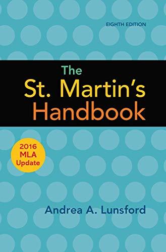 9781319120252: The St. Martin's Handbook with 2016 MLA update