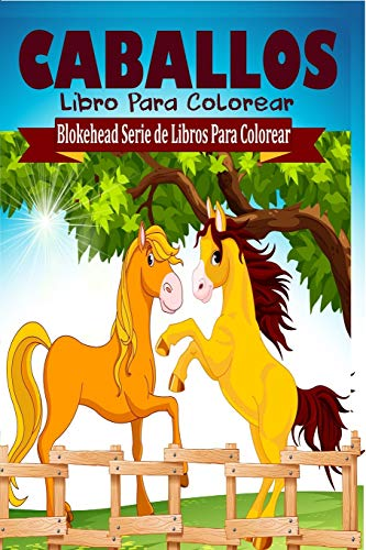 9781320461436: Caballos Libro Para Colorear (Spanish Edition)