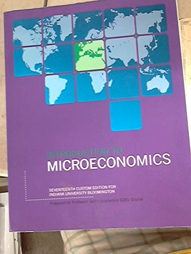 9781323019238: Introduction to Microeconomics, E201, 17th Custom Edition for Indiana University