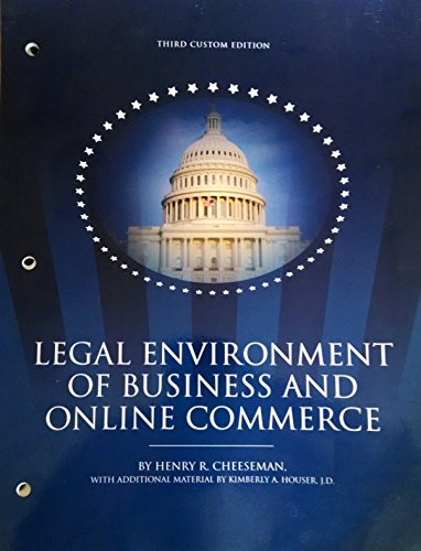 9781323025222: Legal Environment of Business and Online Commerce