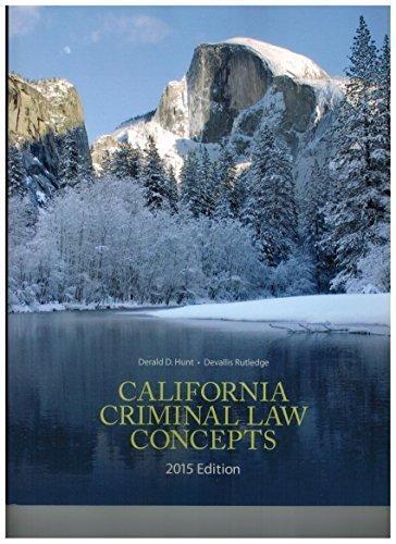 9781323078280: California Criminal Law Concepts 2015
