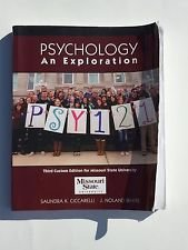 9781323109335: Psychology: An Exploration: Third Custom Edition for Missouri State University